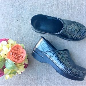 Dansko Black Web Mermaid Print