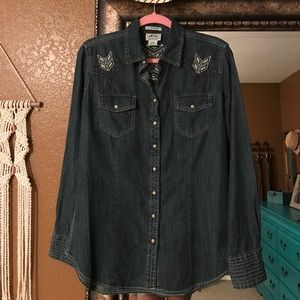 Ariat denim top