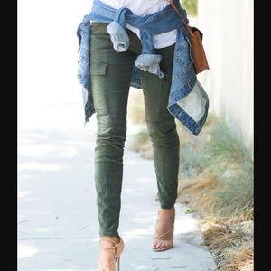 Zara Trafaluc Army Green Cargo Pants
