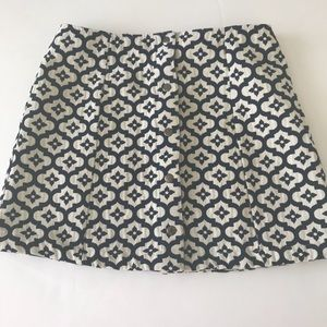 Topshop size 10 retro print button up mini skirt