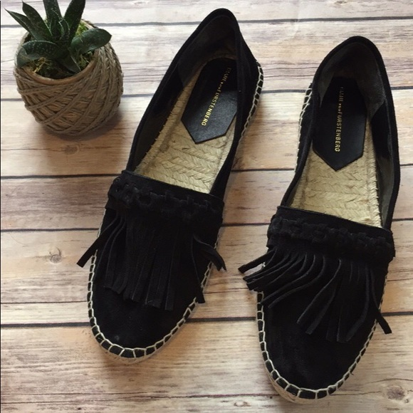 Diane Von Furstenberg Woman Calf Hair Slip-on Sneakers Black Size 7.5 Diane Von Fürstenberg 1weF5B