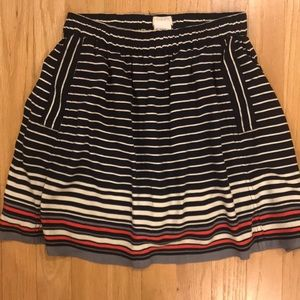 Cooperative high waisted nautical skirt