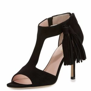 "Kate Spade ""Inga"" black kid suede pumps"