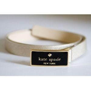 Gold Slim Belt w Kate Spade Logo Buckle
