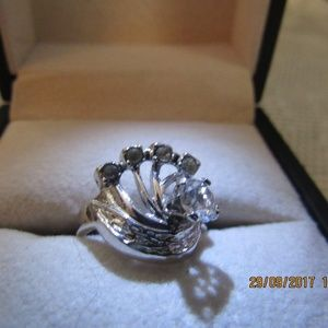 DR150.   Silver Statement Ring.  Size 5 1/2