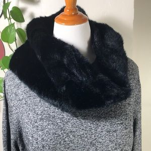 Style & Co. Plus Size Faux-Fur Scarf Colorblocked