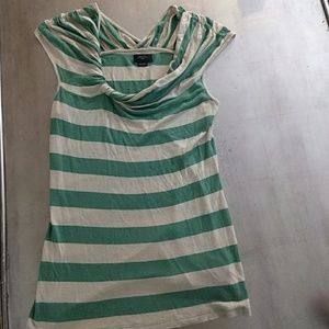 Anthropologie Oatmeal Striped Top