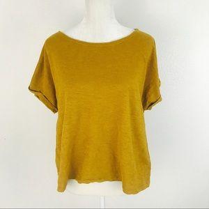 Eileen Fisher Tee Hemp Organic Cotton Yellow