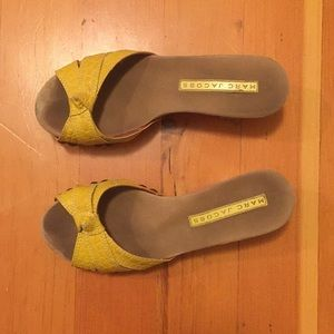 Marc Jacobs canary yellow mules