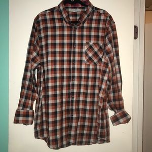 Five four club mens red checkered long sleeve