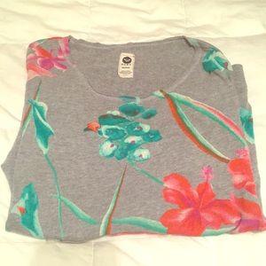 Tropical Roxy Size Medium crew neck sweater