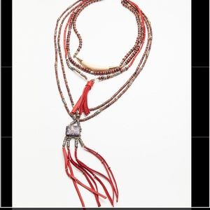 Free People Black or Red Sun Ceremony Necklace