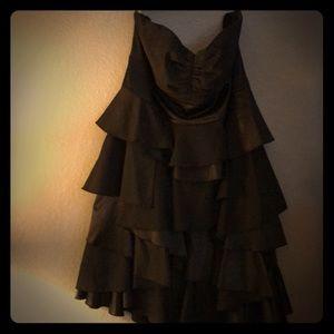 Black strapless torrid ruffle dress
