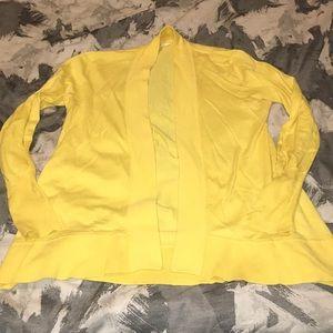 Bright Yellow Flowy cardigan