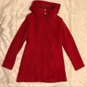 Adorable Long Red Winter Coat