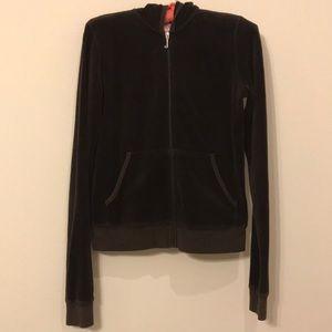 Juicy Couture rich dark brown velour jogging suit