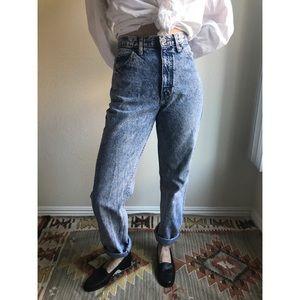 [vintage] 80s acid wash Brittania mom jeans