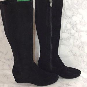 Rockport Black Suede Wedge Boots