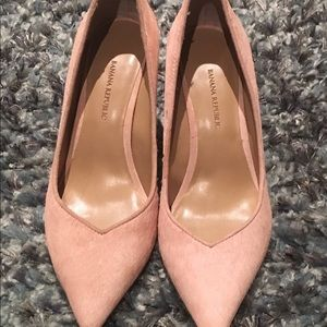 Banana Republic Fur pumps