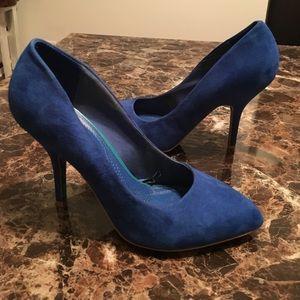 Zara Blue Suede Pumps - Size 7