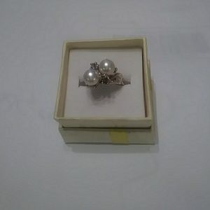 Double Freshwater Pearls Ring size 5