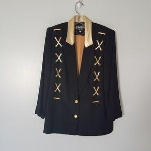 Vintage 80s Gold Lace Up Oversized Blazer