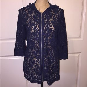 Urban Outfitters Staring at Stars Lace Hoodie NWOT