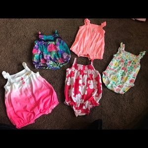 Other - Various baby girl tank top rompers