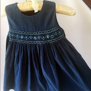Girls royal blue corduroy dress size 4