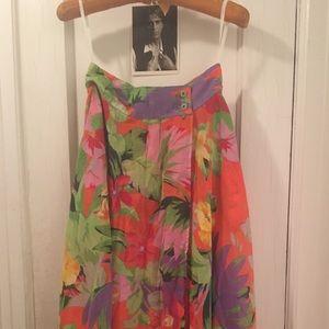 Vintage Sheer Wraparound Maxi Skirt by MODA INT'L