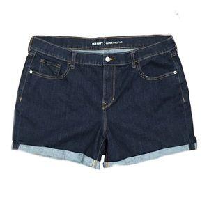 Dark wash Old Navy Curvy Denim Shorts