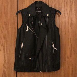 Express // Leather Vest