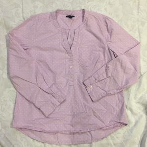 Gap purple polka dot popover