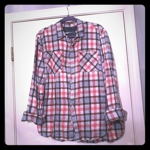 Gap XL Plaid Long Sleeve Button Up