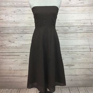 J Crew Brown Strapless Dress