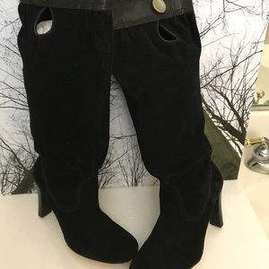 NWT- Authentic Slouchy Suede Leather Boots