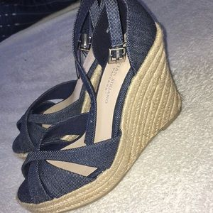 Cute chambray wedges