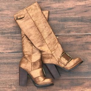 Vintage Collection Buckle Metallic Boots