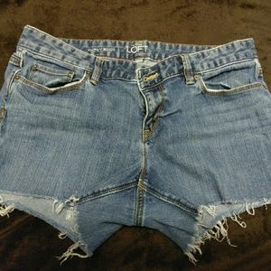 LOFT denim cutoff shorts