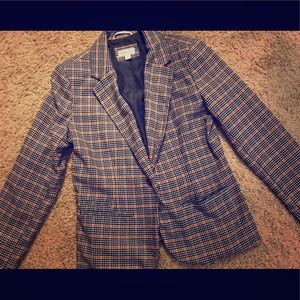 Oranges/Blue/White checkered blazer