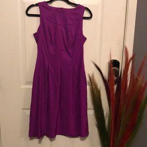Pleated Purple Dress