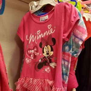 minnie mouse pink dress  size 5t used in great con