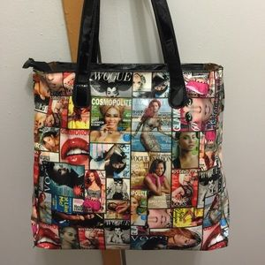 Magazine tote bag use once time only ..