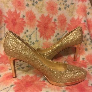 Liz Claiborne Gold sparkly heels