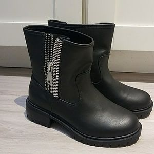 NWT Torrid Black Zippered Moto Boots
