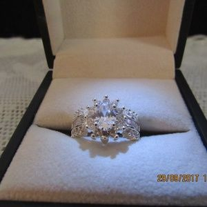DR152.   Dazzling  Engagement Ring. Size 8