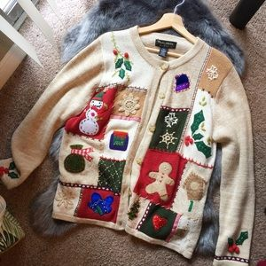 Vintage Christmas Ugly Sweater By Theme Works