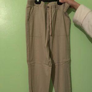 Long woven taupe pants