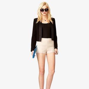 High Waist Cream Hot Shorts