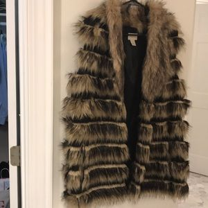 Chico's Fur Vest size Lg/XL